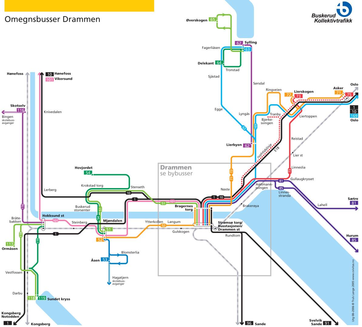 kart bussruter oslo Unnskyld, hvordan kommer jeg meg til Lierbyen? kart bussruter oslo